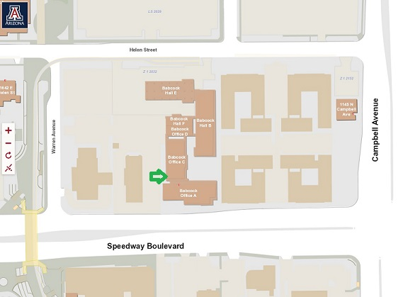 The Graduate Center is located at 1717 E Speedway, Tucson AZ.