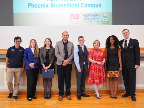 AZ3MGS UA Speakers with Faculty and Staff Members