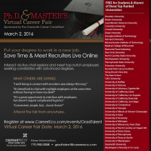 GCC PhD & Masters Virtual Career Invitation Picture