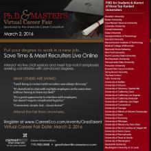 GCC PhD & Masters Virtual Career Invitation Picture