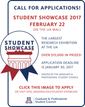 GPSC Student Showcase Call for Applications - Apply by January 30