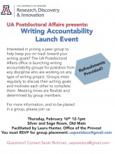 Flier for UA Postdocs Writing Accountability Groups 2017